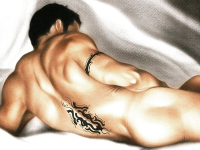 Modèle Nude timide